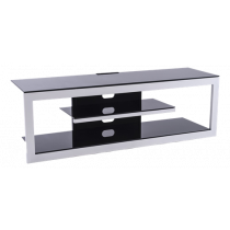 ERARD SMILE TV stand, upper shelf in black tempered 8 mm glass, black  / ERA-1054