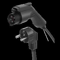DELTACO EV-кабель Mode 2, Schuko - тип 1, 6-16A, 5M