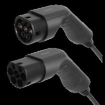 DELTACO EV-кабель тип 2 - тип 2, 1 фаза, 16А, 3М