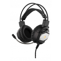 DELTACO GAMING headphone with LED, with microphone, black / GAM-022