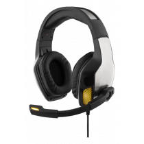 DELTACO GAMING headphone, with vibration, adjustable microphone, remote black / GAM-026