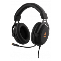 Headset DELTACO GAMING 2 x 3.5 mm, LED, 20Hz - 20kHz, black / GAM-030