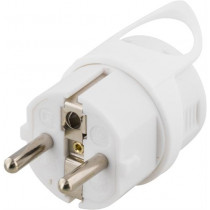 Grounded plug DELTACO white / GT-180