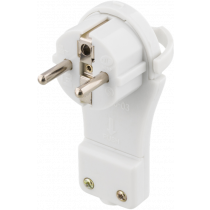 Plug-in DELTACO flat, white / GT-184