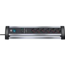 Power strip BRENNEN 6 sockets, 3m, black / GT-430 / 1395000416