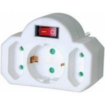 Brennenstuhl удлинитель, 1xCEE 7/4, 2xIEC 60906, крышка, выключатель питания, белый