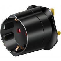 Travel adapter EU-GB Brennenstuhl grounded, black / GT-472