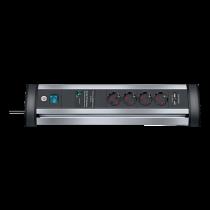 Power strip BRENNEN 4 sockets, 1.8m, black / GT-627 / 1395000514