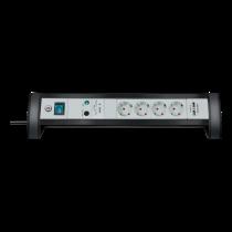 Power strip BRENNEN 4 sockets, 1.8m, black / GT-629 / 1156350514