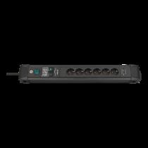 Power strip BRENNEN 6 sockets, 3m, black / GT-635 / 1156000596