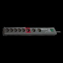 Brennenstuhl Secure-Tec 19.500A, 8xCEE 7/4, 1xCEE 7/7, 3m, black 1159490936 / GT-636