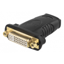 HDMI adapter, 1080p in 60Hz, HDMI 19-pin female to DVI-D female, gold-plated connectors, black DELTACO / HDMI-10A
