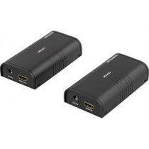 DELTACO Ethernet HDMI Extender, Up to 120m in 1080P with Cat6, Black  / HDMI-221