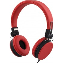 Headphones STREETZ foldable, with microphone, red / HL-226