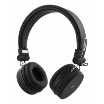 STREETZ folding Bluetooth headset with microphone, Bluetooth 4.1 + EDR, 10m range, 22 hours playing time, 32 Ω, black / HL-421