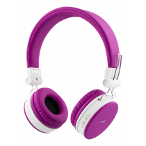 Headphones DELTACO with micrphone, pink / HL-425