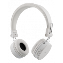 Headphones DELTACO with microphone, white / HL-427