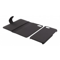 Wallet case Deltaco 2-in-1, for iPhone 6/6s/7/8, black / IP8-111