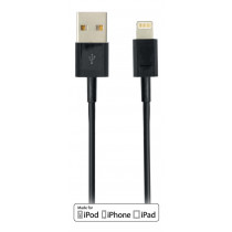 DELTACO USB Sync  Cable iPad, iPhone iPod, MFi, USB Type A - Lightning , 2m, black / IPLH-172