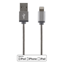 Phone cable DELTACO USB-Lightning iPhone, 1.0m, grey / IPLH-274