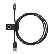 Phone cable STREETZ USB-Lightning iPhone, 1.0m, black / IPLH-582