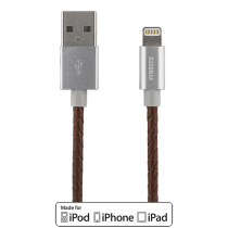 Phone cable STREETZ USB-Lightning iPhone, 1.0m, brown/silver / IPLH-583