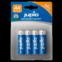 Щелочные батареи Jupio AA, 4 блока, LR6, 1,5 В, неперезаряжаемые, синие