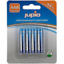 Щелочные батарейки Jupio AAA, 4 упаковки, LR3, 1,5 В, неперезаряжаемые, синие