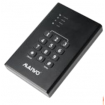 """External hard disk cabinet with keypad, AES-256 bit, 2.5 """"HDD, 5 Gbps, black / K2568KPA"""