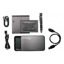"HyperX Fury RGB SSD Bundle Kit, 960GB, 2.5 "", Marvell controller, 550 MB/s write, 480MB/s read, black Kingston / KING-2744"