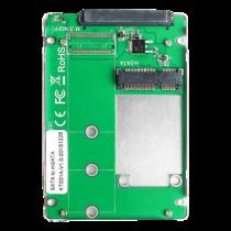 "mSATA for SSD cabinet, 2.5 "", for 1xmSATA SSD 30x50mm, aluminum housing DETACOIMP silver  / KT031A"