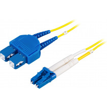 Cable DELTACO LC-SC, 9/125, OS2, 0,5m / LCSC-0S-5