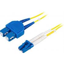 DELTACO fiber cable, LC - SC, 9/125, OS2, duplex, single mode, 2m / LCSC-2S