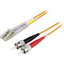 Fiber cable OM1  LC - ST, duplex, UPC, 62,5/125, 3m DELTACO  orange / LCST-3M