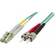 Fiber cable OM3  LC - ST, duplex, multi mode, 50/125, 0.5m DELTACO / LCST-60