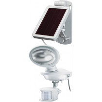 Sol 14 Plus, battery-powered outdoor light with motion sensor, solar charge, IP44, 85lm, (P) IR 180 ° detection angle with a range of up to 10m, 3m cable BRENNEN white / LED-1159