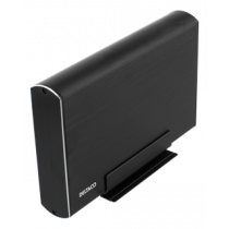 "External enclosure 1x3,5"" SATA HDD, USB-C, USB 3.1 Gen 2 DELTACO black / MAP-GD39C"