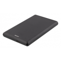 "External 2,5"" HDD/SDD enclosure, USB-C, USB 3.0, aluminium, DELTACO BLACK / MAP-GD47C"