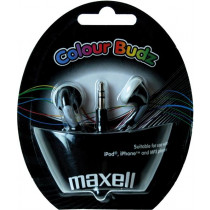 Earbuds Maxell Color Budz 32 Ohm, 3.5mm Connection, 1.2m Cable, Black / MAX-930