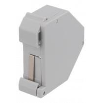 Keystone holder for DIN rail, shielding, plastic DELTACO gray / MD-122