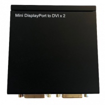 Splitter DELTACOIMP Mini DP to DVI, 2xDVI-I, Full HD, 2.2 Gbps, black / MDP-2XDVI
