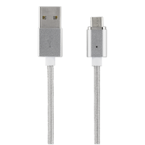 Phone cable EPZI, USB-Lightning iPhone, magnetic, 1.0m, silver / IPLH-581