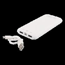 Power Bank DELTACO 10 000 mAh, 2,1A, USB-C, Li-Po, white / PB-1065