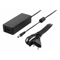 DELTACO AC Adapter 100-240V 50 / 60Hz AC to 48V DC, 1A, 2.5 / 5.5mm DC Plug, Black/ PS48-10