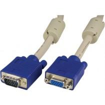 DELTACO extension cable RGB HD 15ha-ho, 3m, gray / RGB-6A