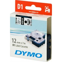 Tape DYMO D1 12mm x 7m, vinyl, black on transparent / S0720500 45010