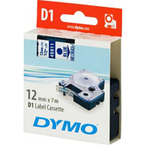 D1, brand tape, 12mm, blue text on transparent tape, 7m - 45011 DYMO / S0720510
