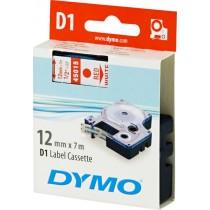 Tape DYMO D1 12mm x 7m, vinyl, red on white / S0720550 45015
