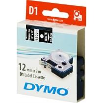 Tape DYMO D1 12mm x 7m, vinyl, white on black / S0720610 45021