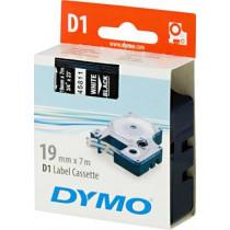 D1, brand tape, 19mm, white text on black tape, 7m - 45811 DYMO / S0720910